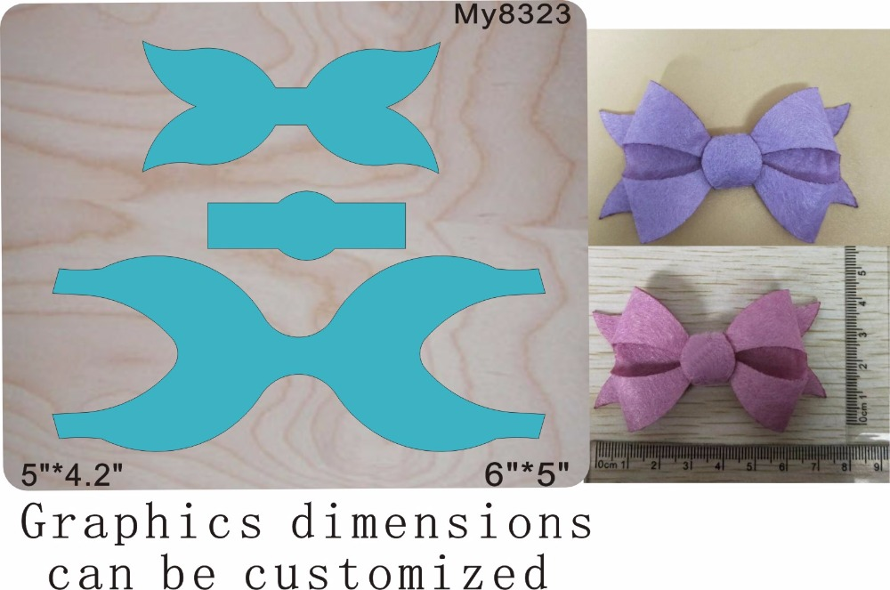 Blue bow Wooden dies fit Scrabooking my