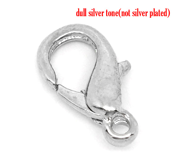 DoreenBeads Silver Color Lobster Clasps. Fits   12x7mm, Sold Per Packet Of 15 2015 New