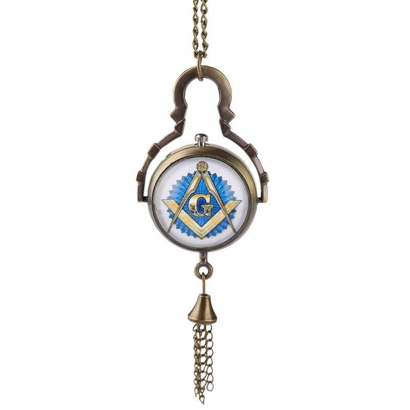 Free-mason Vintage Masonic Freemason Necklace Men Women Ball Quartz Watches Friend Father Mother Nurse Pocket Watch Gifts Chain