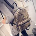 Gold silver woman backpack snake patterns travel bags alligator woman backpack silver schoolbags for teenager girls luxury bags
