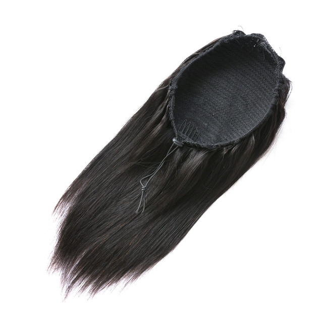 Straight Ponytail 100% Human Hair Drawstring Ponytail