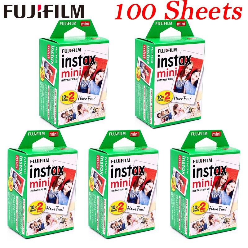 10-100 fogli Fuji Fujifilm instax mini 9 8 films Bordo bianco films per l'istante mini 8 9 7 s 25 50 s 9 90 SP Macchina Fotografica di Carta