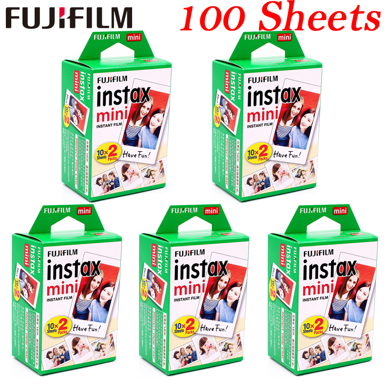 10 - 100 sheets Fuji Fujifilm instax mini 9 8 films white Edge films for instant mini 8 9 7s 25 50s 9 90 SP-1 Camera photo Paper
