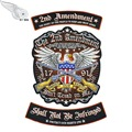 2nd Amendment Eagle military patch embroidery iron on full set for jacket vest free shipping
