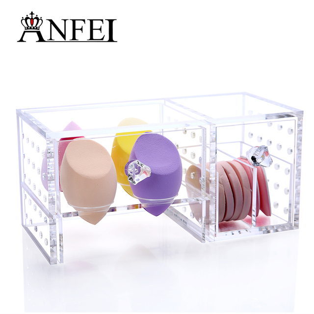 Acrylic Cosmetic Organizer Lipstick Holder Display Stand Clear Makeup Case Makeup  Organizer Storage Container C159
