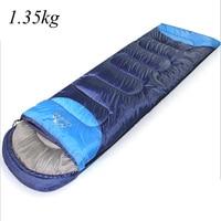 Brand CREEPER Envelope Splicing Double Sleeping Bag Lover's hug Outdoor Travel Waterproof Climbing Sleeping Bag (190+30)X75 cm