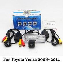 Резервного Копирования Камера автомобиля Для Toyota Venza 2008 ~ 2014/RCA Проводной Или Беспроводной/HD Широкоугольный Объектив/CCD Ночного Видения Камеры Заднего вида