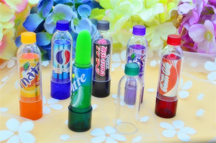6Pcs With 6 Different Color Makeup Change Color Lip Balm Cola Sweet Cute Moisturizer Faint Scent Lip Balm Lipstick Brand Makeup 4