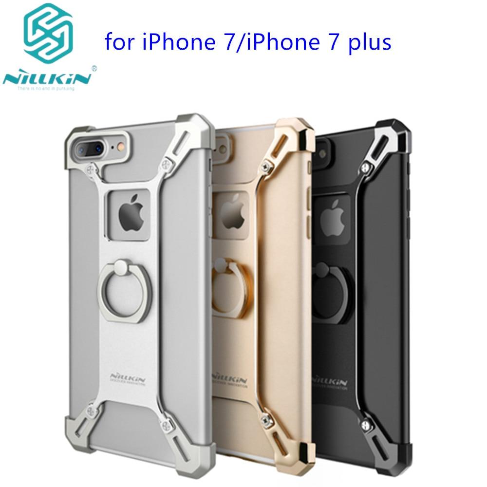 Цена за Для apple iphone 7 капа удобный телефон стенд крышка nillkin металла жесткая задняя крышка кольцо формы держатель для apple iphone 7 plus case