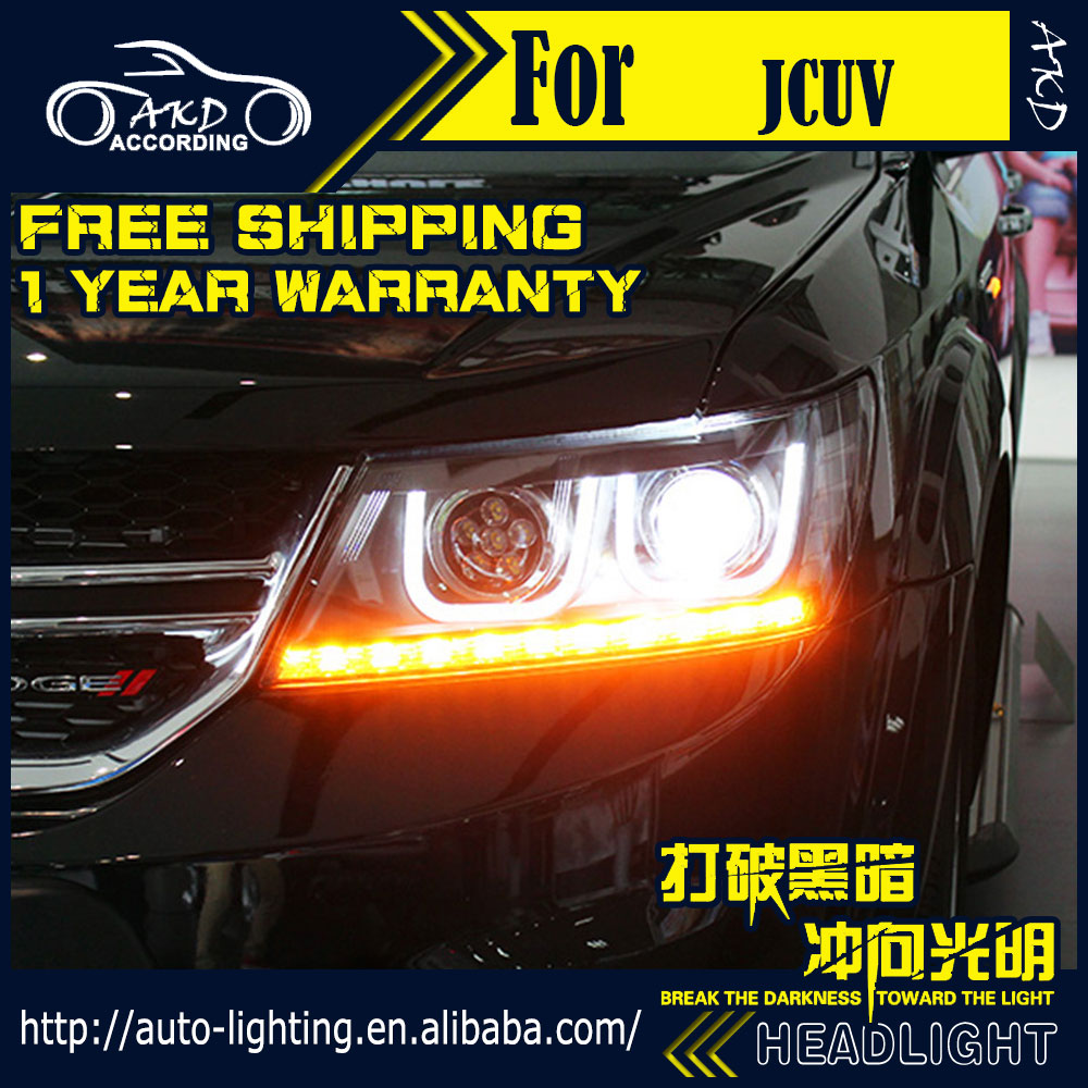 AKD Car Styling Headlight Assembly for Fiat Freemont Headlights Bi Xenon LED Headlight JCUV LED DRL HID Front Lamp Accessories-in Car Light Assembly from Automobiles & Motorcycles    3