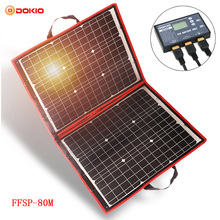 Dokio 18 V 80 W Гибкая Складная моно солнечная панель наружная портативная солнечная панель для путешествий и лодок & RV Высококачественная солнечная панель Китай