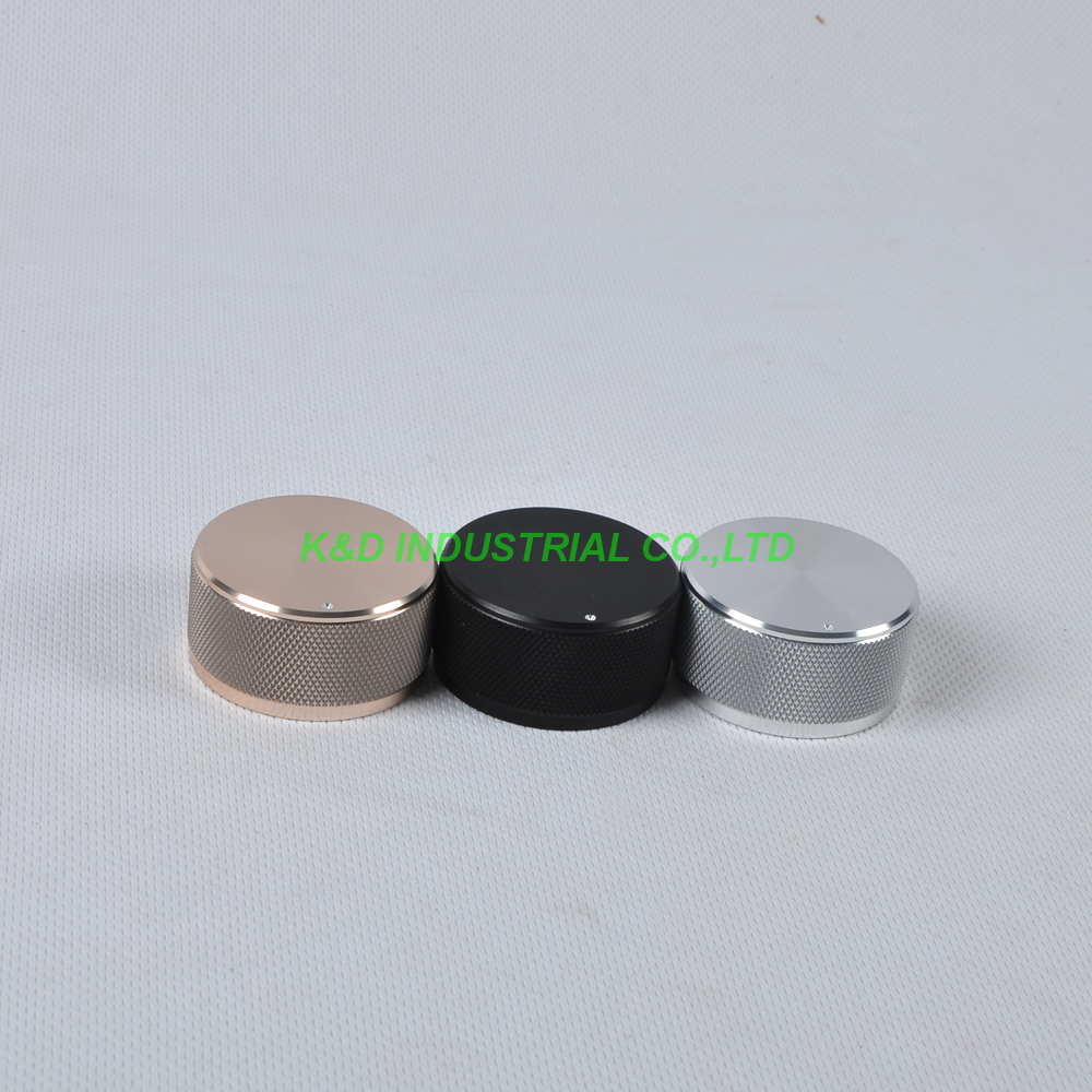 1pc 44x22mm Gold Aluminum Vintage Control Knurled knob for Guitar Amplifier Parts in Electrical Plug from Consumer Electronics