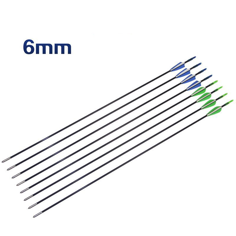 6/12/24/30PCS/LOT 80cm Fibreglass Arrows Archery Arrows Nocks Compound Bow & Recurve Bow Hunting And Target Practice Arrows