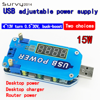 15W Adjustable DC-DC CC CV USB 5V to 3.3V 9V 12V 24V 30v Step UP / Down Power Supply Module Adjustable Boost Buck Converter dc dc voltage converter positive to negative step down power supply boost buck module 3 15v to 3 3v 5v 6v 9v 12v 15v
