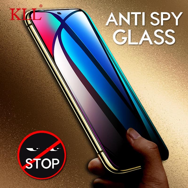 Anti-spy Tempered Glass For Xiaomi Mi 9 8 SE 8 Lite CC9 CC9E Anti-Peeping Privacy Screen Protector For Redmi Note 7 K20 Pro