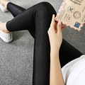 2017 New 5XL Women Spring Summer Thin Black Shinny Gloss Leggings Fashion Plus Size Outwear Elastic Nine Points Pencil Leggings