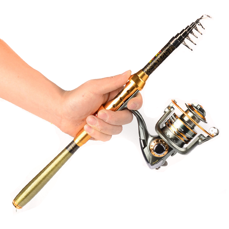 99% Carbon 1.8M 2.1M 2.4M 2.7M 3.0M Portable Telescopic Fishing Rod Spinning Fish Hand Fishing Tackle Sea Rod Ocean Rod Newest