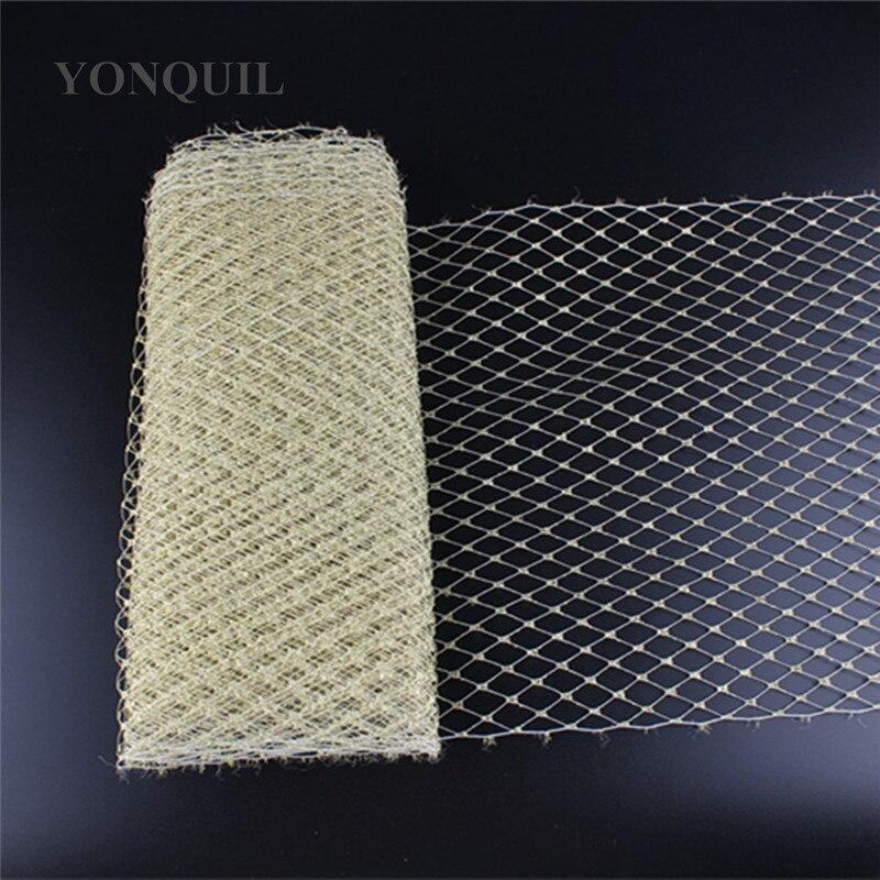 Image 4 - 23CM silver Birdcage veil netting Veiling make in Millinery Hat BlingBling Veil Fabric Women Fascinator hat material decorationveil nettingveil fabricveil birdcage -