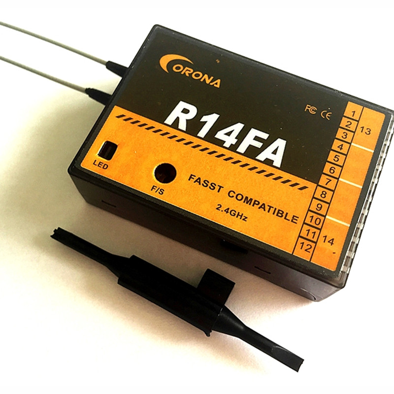 Tarot-RC Corona R14FA FASST Compatible 2.4Ghz 14Ch Receiver For FUTABA Transmitter 12FG frsky tfr6 a 7ch fasst compatible receiver for rc multicopter