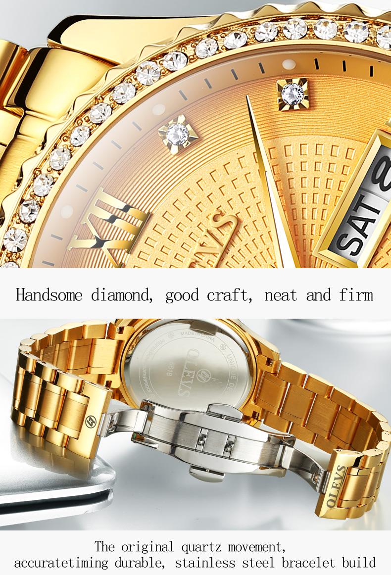 2018 OLEVS Luxury Brand Watch Men's Analog Quartz Auto Date Watches Man Waterproof Clock Men Sport Stainless Steel Wrist Watch 13
