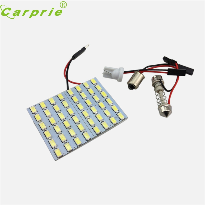 CARPRIE Super Hot Sale Car Panel 48 SMD LED T10 Dome Bulb BA9S Adapter 12V DC CGt Drosphipping Jun5