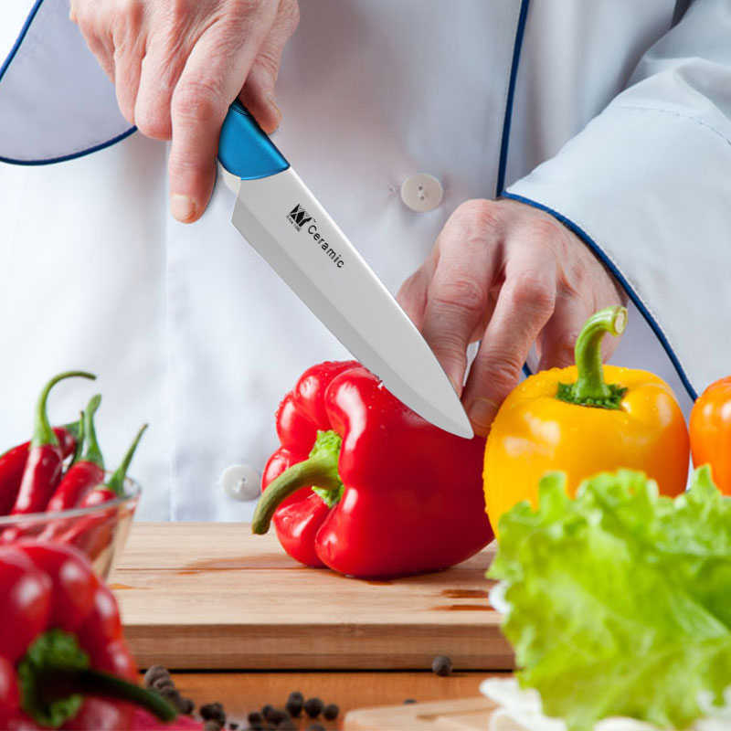 XYj קרמיקה מטבח סכין סט 4 חתיכות סט שף מטבח סכין של סופר חד זירקוניום להב ABS + TPR ידית סכין מכירה לוהטת מחיר