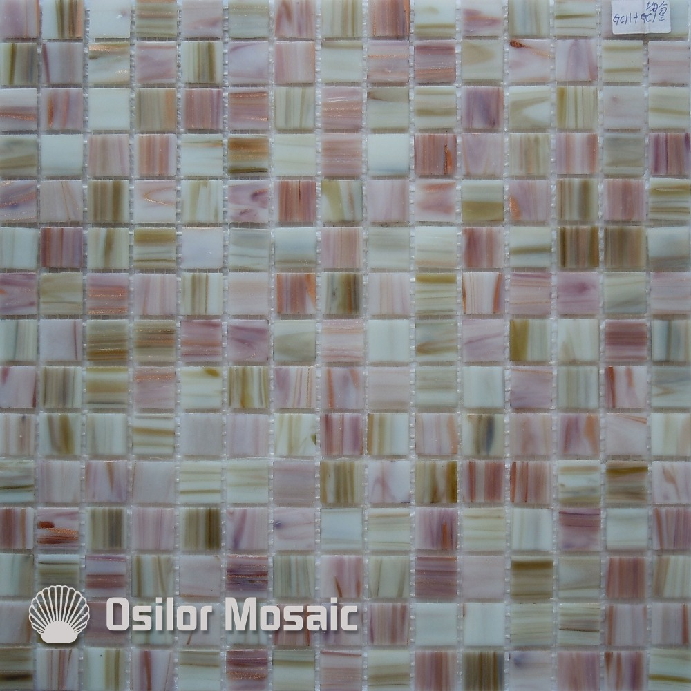 Free Shipping Mixed Color Glass Mosaic Tile For Bathroom And