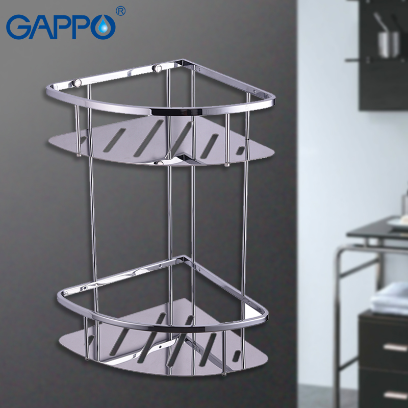 GAPPO bathroom shelves black hanging storage rack bath hardware accessories wall mounted storage holders a1 hotel bathroom washbasin wall hanging solid thickening rack space aluminum wall hanging storage rack wx7201648