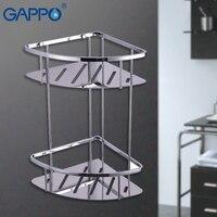 GAPPO bathroom shelves black hanging storage rack bath hardware accessories wall mounted storage holders