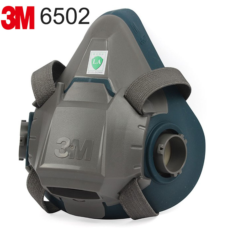 3M 6502 respirator mask M number Fast buckle type respirator face mask Used for Painting Toxic places gas mask 3m 7702 advanced silicone protective mask comfortable type soft respirator mask painting graffiti respirator gas mask