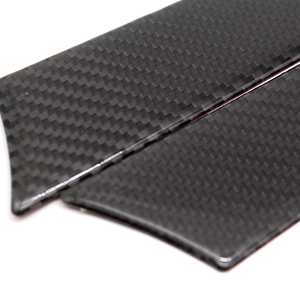 Image 4 - For Audi A4 B8 A5 2009 2010 2011 2012 2013 2014 2015 2016 Carbon Fiber 4pcs Window Door Panel Decor Cover Sticker Trim
