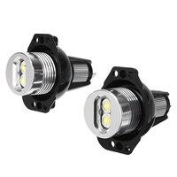 bulb 12v Mayitr New 1 Pair 10W 12V Angel Eyes LED Headlight Halo Ring Light Super Bright Bulb For BMW E90 E91 3 Series (3)