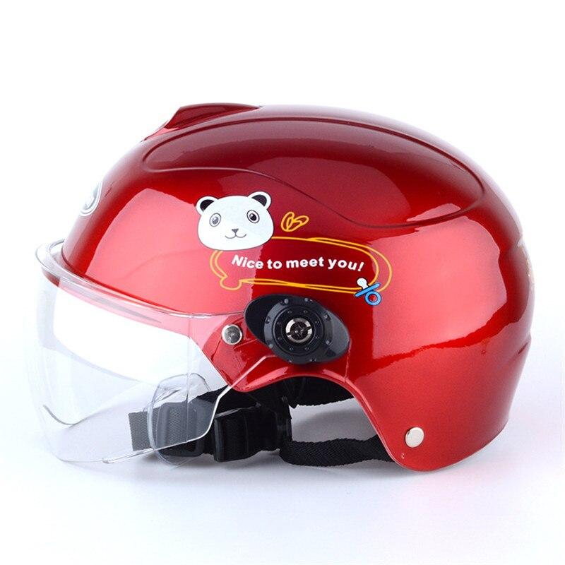 Elf Helme Für 1-10 Jahre Alte Kinder Kinder Motorrad Helme Junge Mädchen Sicherheit Fahrrad Kappe Kind Schutzhülle Bike capacetes rot
