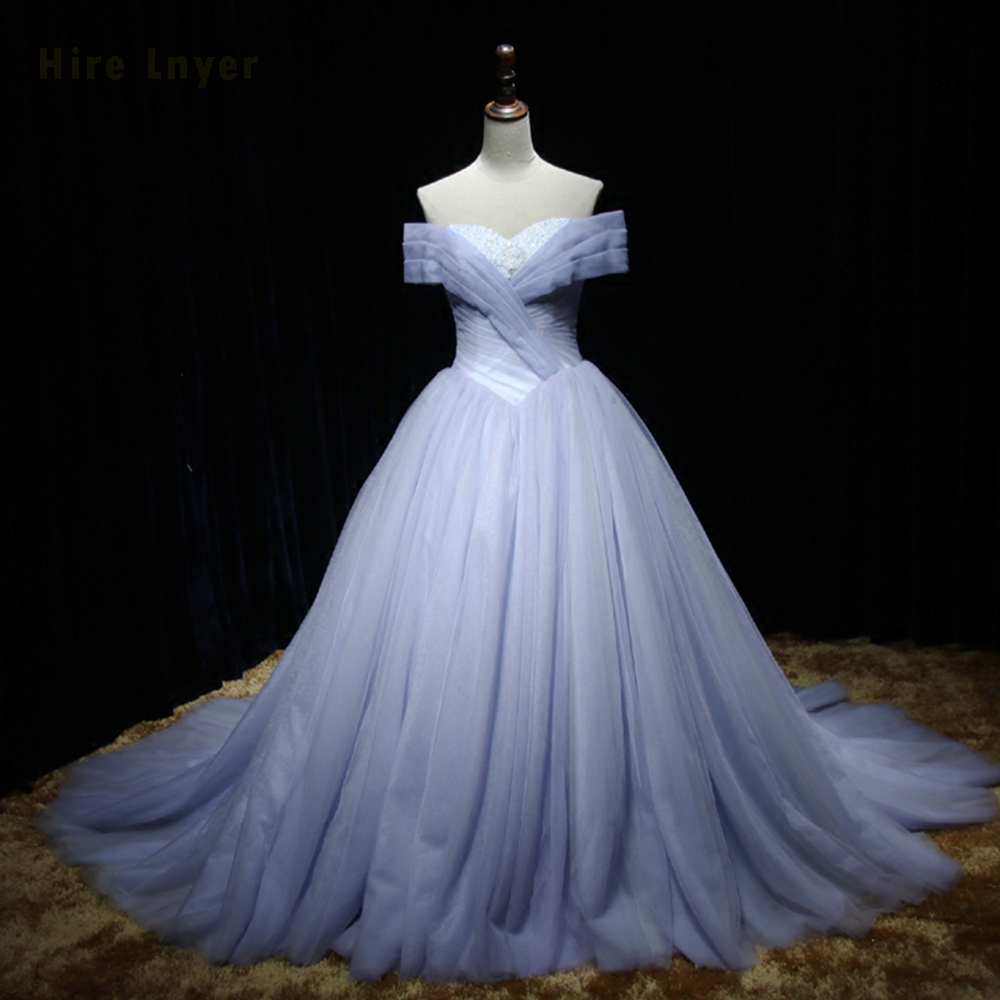 NAJOWPJG Custom Made Off The Shoulder Short Sleeve Lace Up Bridal Gowns Abito Da Sposa Beading  Pleat Wedding Dress Plus Size
