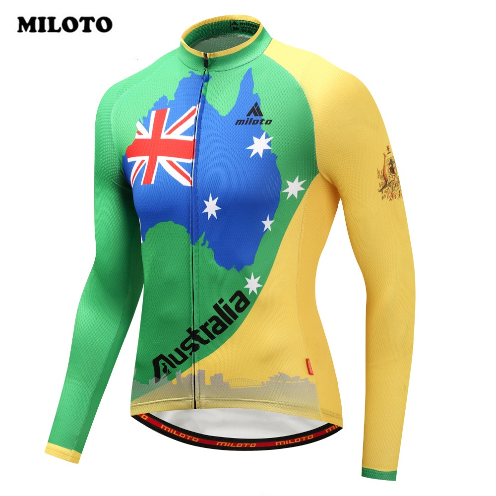 2018 Miloto Summer Men Cycling Jersey Australia Top Long Sleeve Ciclismo Ropa Outdoor Riding Bicycle Shirt MTB Bike Jersey