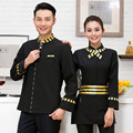 Hotel Uniform Long Sleeved Autumn and Winter  Hot Pot Restaurant Western Restaurant Waiter Clothes Wholesale