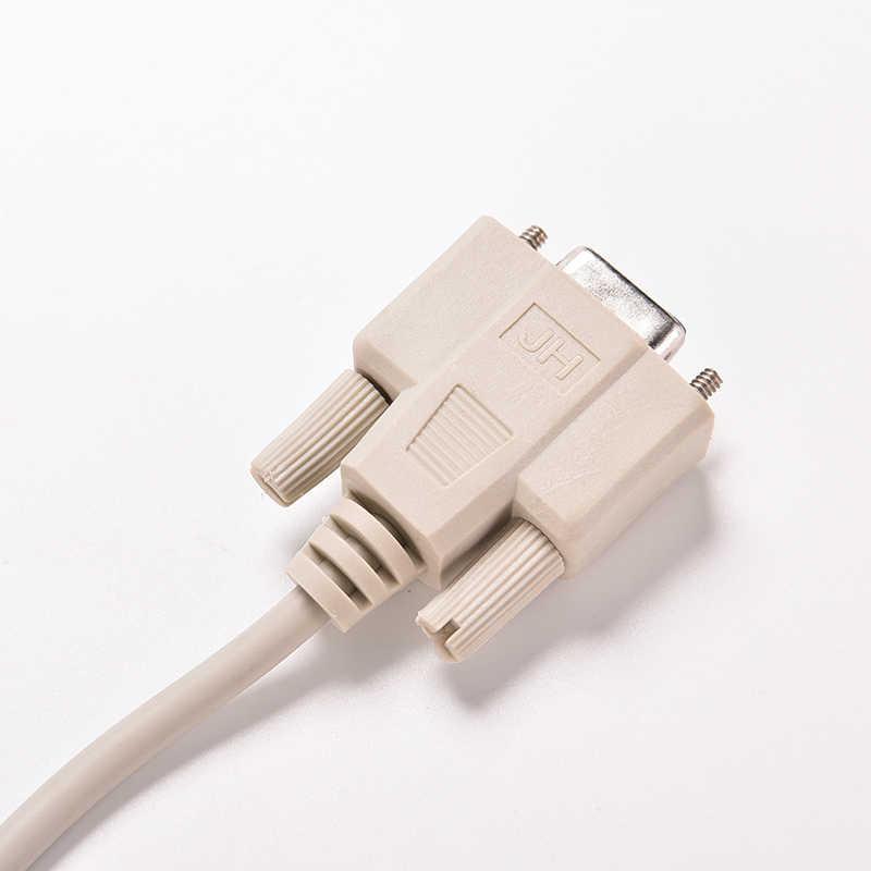5ft F/F série RS232 Null Modem câble femelle à femelle DB9 FTA connexion croisée 9 broches COM données câble convertisseur PC accessoire 1PC