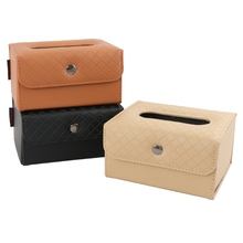 Car Tissue Box visor type PU leather car tissue box napkin holder car tissue holder car seat box Multi Color KVM-4 biety am 13 multifunctional alligator pu leather car sunvisor sunshade tissue box case cd holder