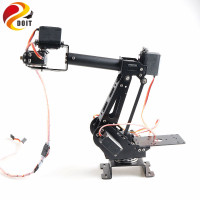 Open Source APP&PS2 Control 6 Dof Robotic Arm Robot Model with 6pcs Metal Gear Servos 360 Degree Rotating Base