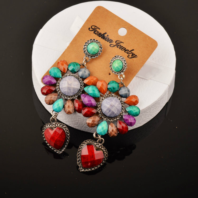 Image 3 - 20 Pairs Mixed Lots Wholesale Women Bohemian Ethnic Long Drop Earrings Mixed Style Flower Waterdrop Carved Bohe Boucle Earringsearring studearring diamondearring back -