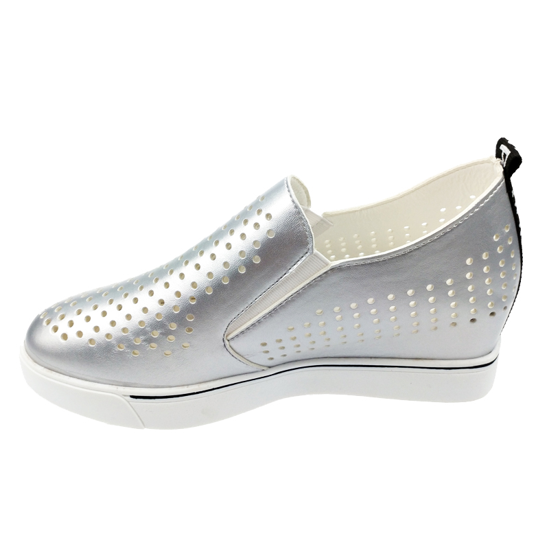 Womens Med Hidden Wedge Heels Slip On Hollow Out Loafers Walking Sneakers Shoes