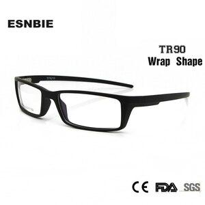 Image 2 - Esnbie 새로운 안경 안경 프레임 안경 프레임 블랙 tr90 광학 유리 처방 안경 프레임 rx