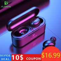 FLOVEME TWS 5.0 Bluetooth Earphone Mini wireless headphones 3D Stereo Sound Earbuds Noise Cancelling Gaming Headset Charging Box