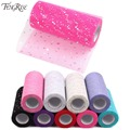 FENGRISE Fabric Patchwork 25yards Sewing Accessories Textile Sequin Tulle Roll Tutu Crafts Material Cheap Apparel Organza Cloth