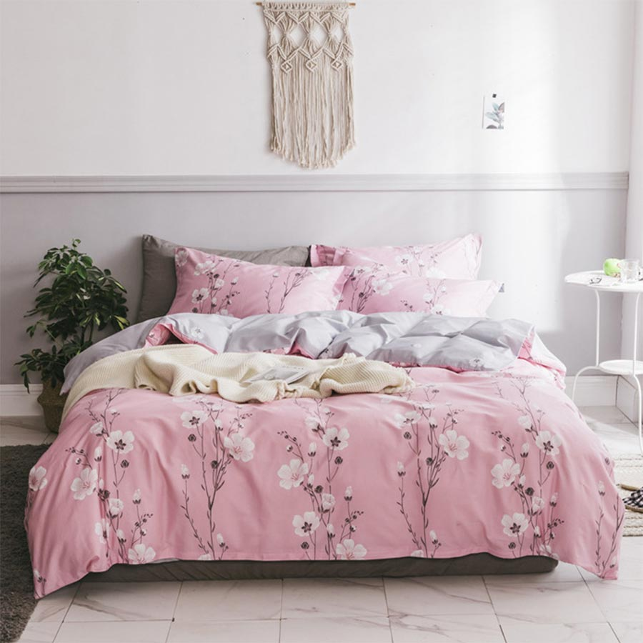 Cute floral bedding set adult teen child girl,twin full ...