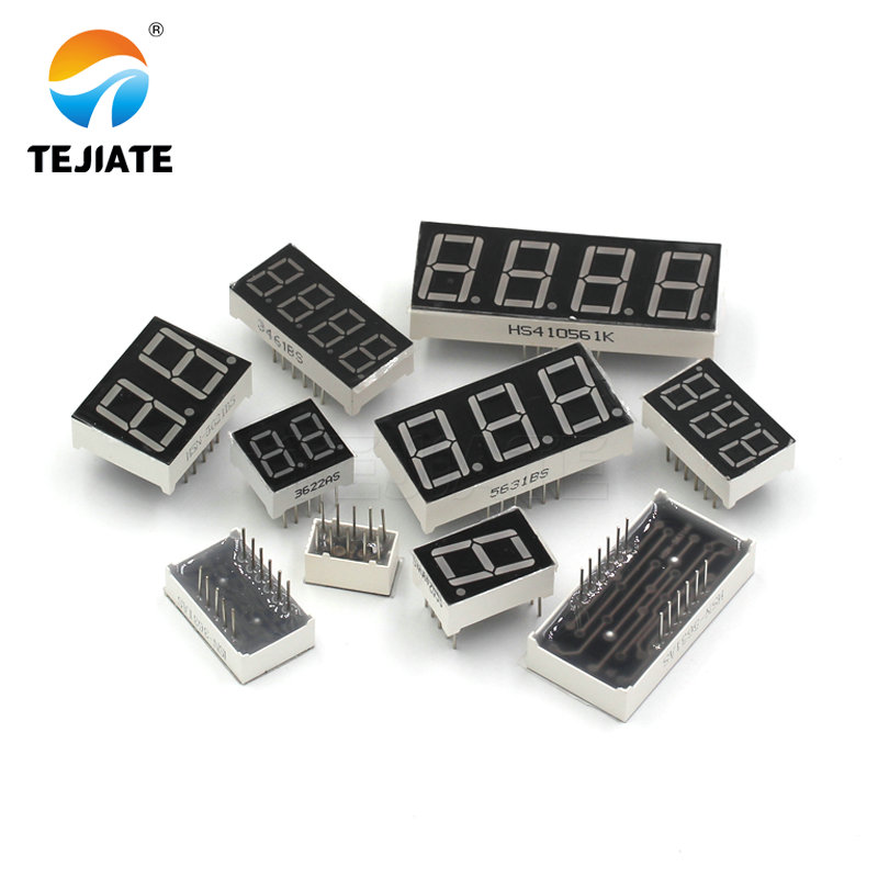 "5 Pcs 10 Pin 1 Bit 7 Segment 1/"" Red LED Display Digital Tube Common Cathode KK"