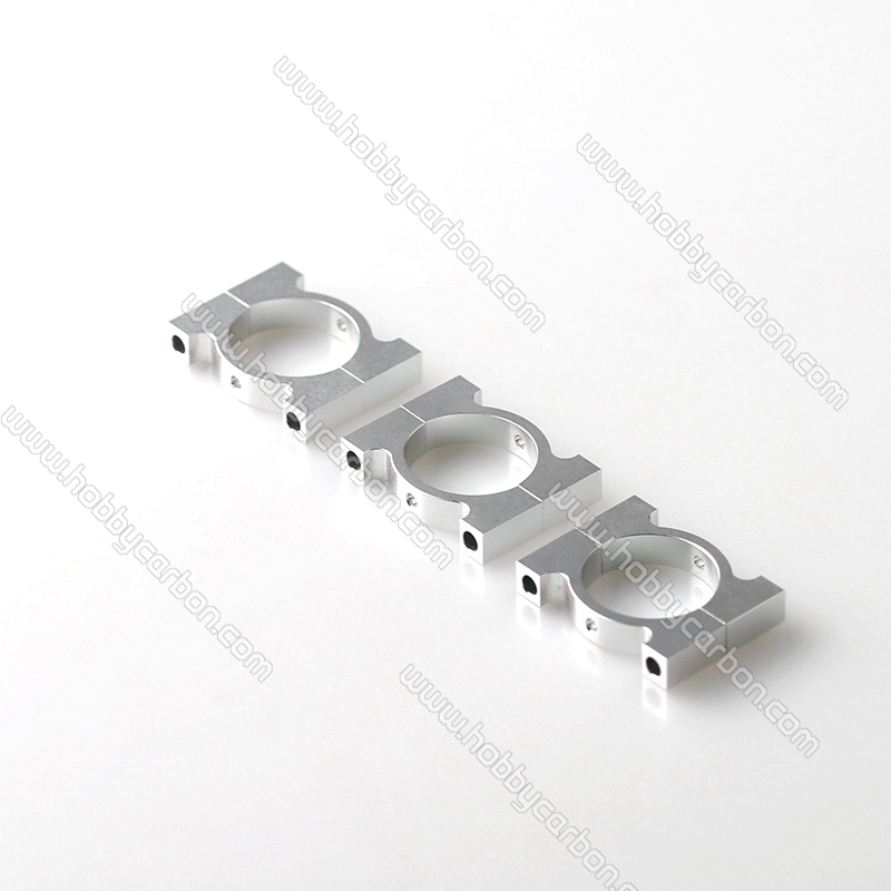 HCC004 бесплатная доставка 25 мм алюминий зажимы/клипы Черный серебристый цвет 25 мм труба зажимы для RC самолеты 20 пар