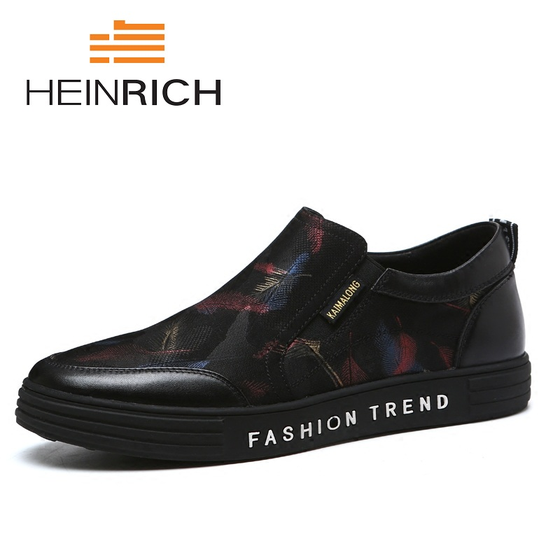 HEINRICH Spring/Autumn Handmade Leather Men Flats Shoes Driving Soft Leather Men Brand Leather Casual Men Shoes Sapatenis new handmade spring summer soft dough leather flats quality leather men loafers men moccasin casual shoes driving shoes