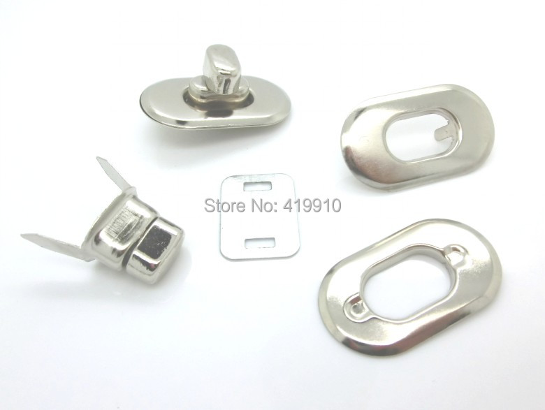 Home & Garden Arts,crafts & Sewing Earnest Free Shipping-10 Sets Silver Tone Handbag Bag Accessories Purse Twist Turn Lock 28x37mm 37x21mm 28x17mm,22x16mm J1306 Strong Resistance To Heat And Hard Wearing