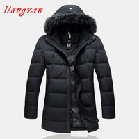Men 90% White DuckJackets And Coat Winter Snow Warm Thick Hooded Winter Parkas Brand Fashion Big Size 6XL 7XL Coats SL F079